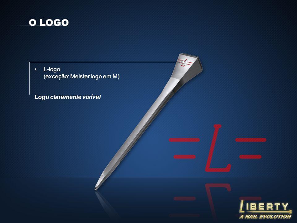 L-logo (exceção: Meister logo em M) Logo claramente visível