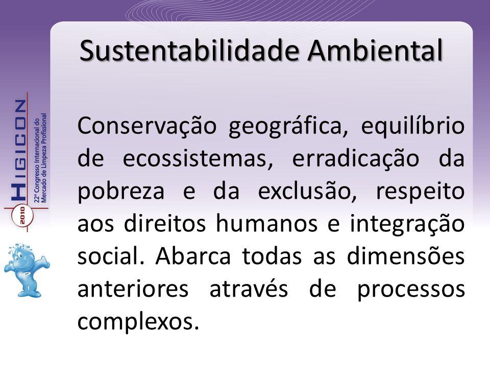 Conservação geográfica, equilíbrio de ecossistemas, erradicação da pobreza e da exclusão, respeito aos direitos humanos e integração social. Abarca to