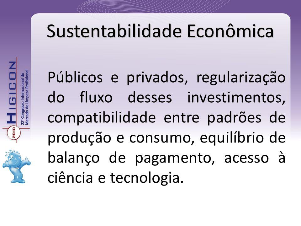 Públicos e privados, regularização do fluxo desses investimentos, compatibilidade entre padrões de produção e consumo, equilíbrio de balanço de pagame