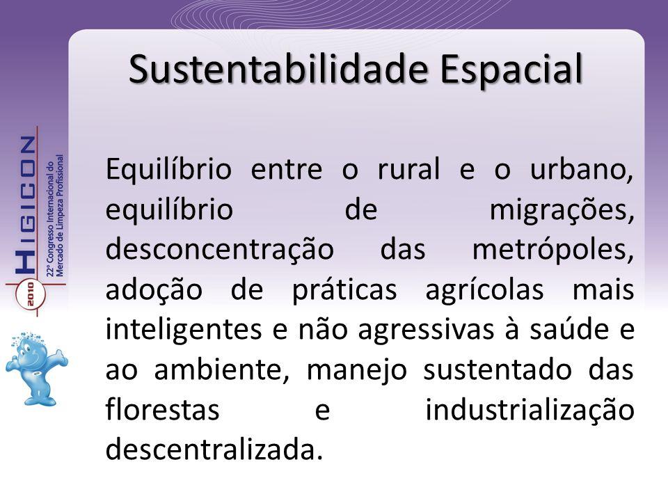 Equilíbrio entre o rural e o urbano, equilíbrio de migrações, desconcentração das metrópoles, adoção de práticas agrícolas mais inteligentes e não agressivas à saúde e ao ambiente, manejo sustentado das florestas e industrialização descentralizada.