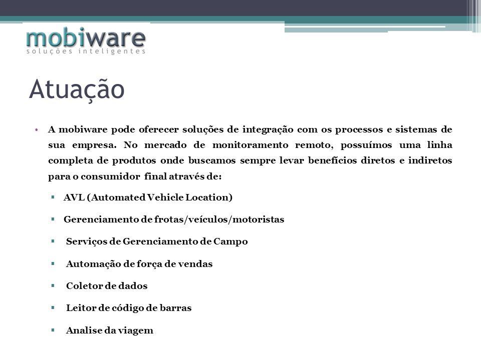 Atuação A mobiware pode oferecer soluções de integração com os processos e sistemas de sua empresa. No mercado de monitoramento remoto, possuímos uma
