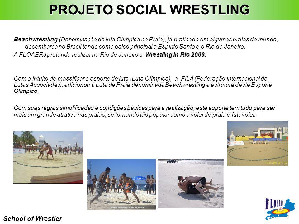 School of Wrestler Beachwrestling (Denominação de luta Olímpica na Praia), já praticado em algumas praias do mundo, desembarca no Brasil tendo como pa