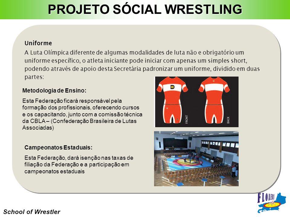 School of Wrestler Uniforme A Luta Olímpica diferente de algumas modalidades de luta não e obrigatório um uniforme específico, o atleta iniciante pode