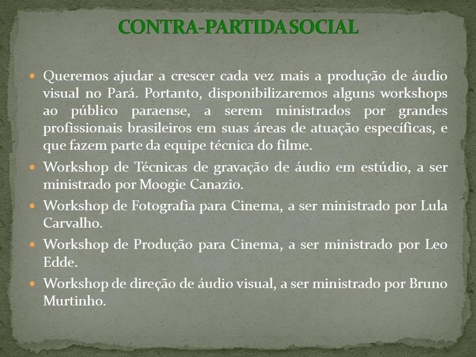 Queremos ajudar a crescer cada vez mais a produção de áudio visual no Pará.