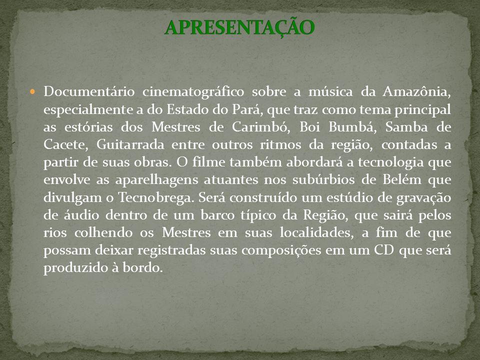 A Logomarca do patrocinador aparecerá no começo da projeção do longa Amazônia Groove.