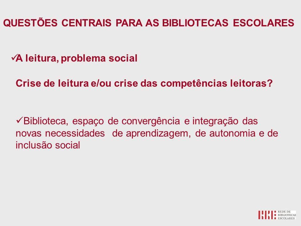 A leitura, problema social Crise de leitura e/ou crise das competências leitoras.