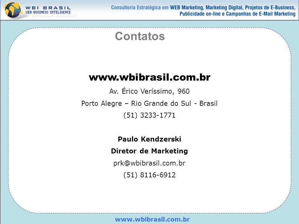 www.wbibrasil.com.br Av. Érico Veríssimo, 960 Porto Alegre – Rio Grande do Sul - Brasil (51) 3233-1771 Paulo Kendzerski Diretor de Marketing prk@wbibr
