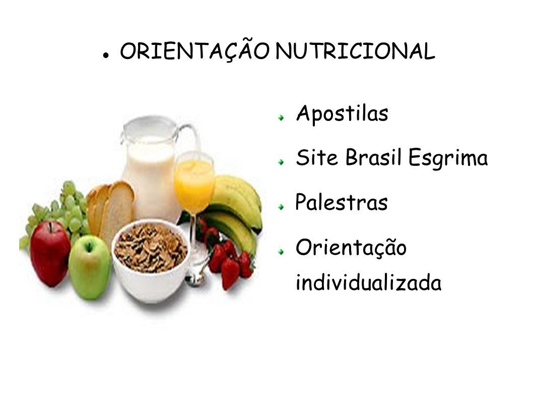 Apostilas Site Brasil Esgrima Palestras Orientação individualizada ORIENTAÇÃO NUTRICIONAL