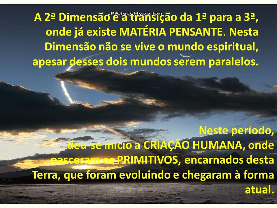 Neste período, deu-se inicio a CRIAÇÃO HUMANA, onde nasceram os PRIMITIVOS, encarnados desta Terra, que foram evoluindo e chegaram à forma atual. A 2ª