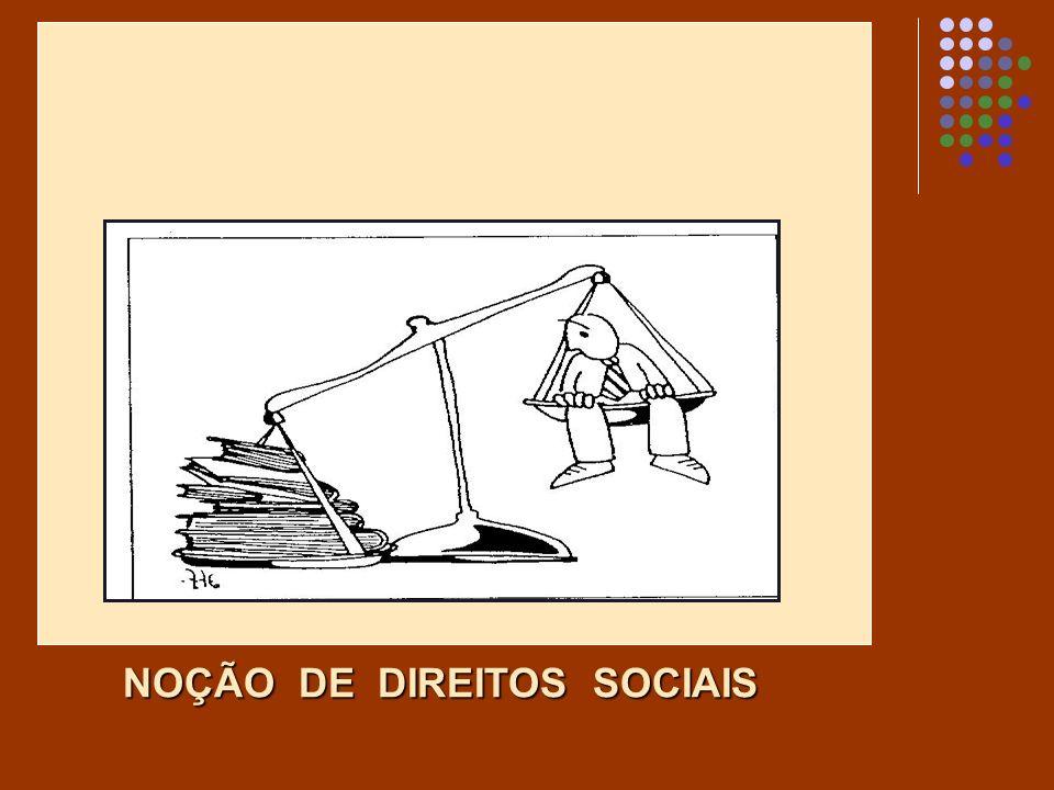 NOÇÃO DE DIREITOS SOCIAIS