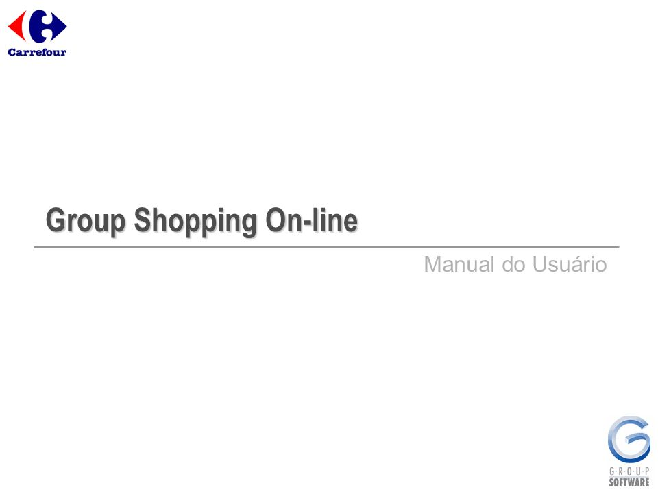 Group Shopping On-line Manual do Usuário
