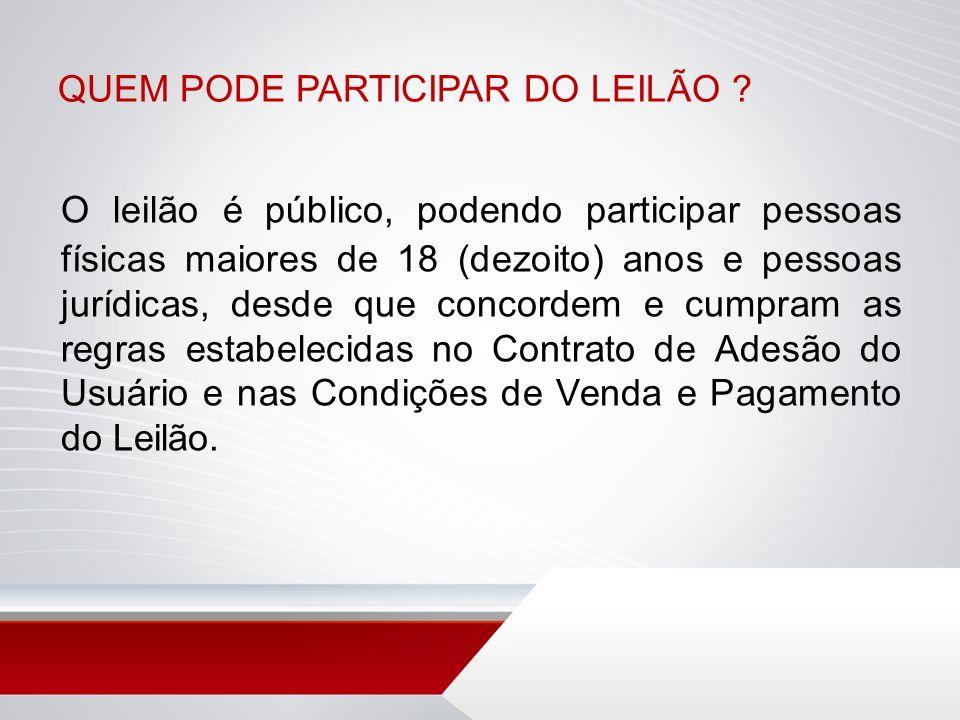 COMO FUNCIONA O LEILÃO.