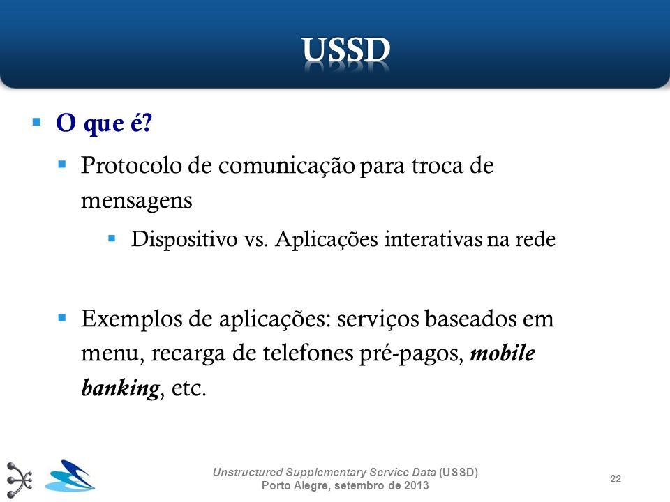 O que é? Protocolo de comunicação para troca de mensagens Dispositivo vs. Aplicações interativas na rede Exemplos de aplicações: serviços baseados em