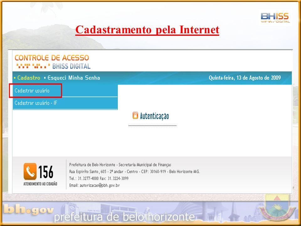 Cadastramento pela Internet