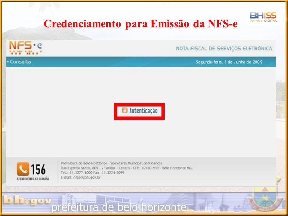 Credenciamento para Emissão da NFS-e