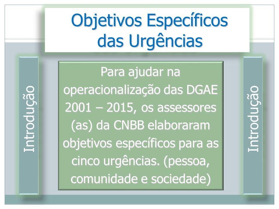 Objetivos Específicos Objetivos Específicos das Urgências das Urgências Objetivos Específicos Objetivos Específicos das Urgências das Urgências Para a