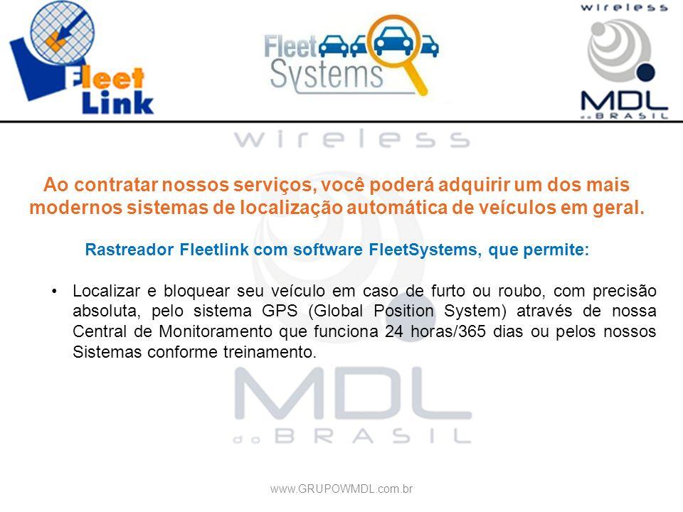 Ao contratar nossos serviços, você poderá adquirir um dos mais modernos sistemas de localização automática de veículos em geral. Rastreador Fleetlink