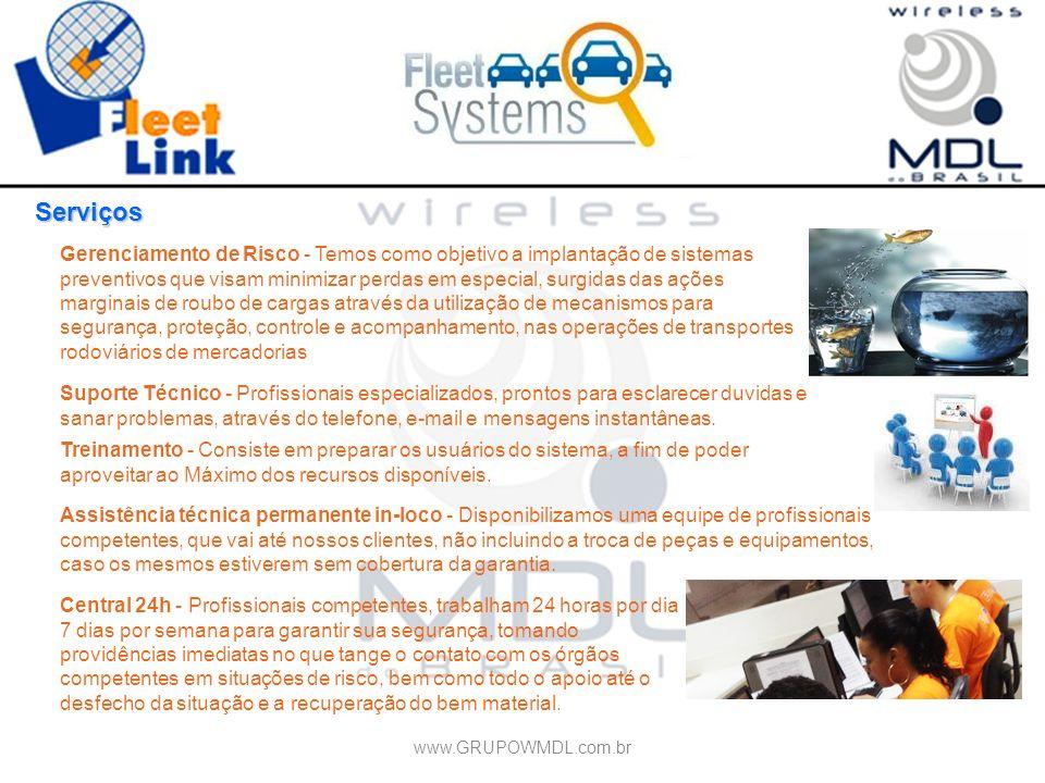 Serviços Gerenciamento de Risco - Temos como objetivo a implantação de sistemas preventivos que visam minimizar perdas em especial, surgidas das ações
