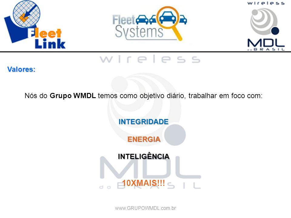 Valores: Nós do Grupo WMDL temos como objetivo diário, trabalhar em foco com:INTEGRIDADEENERGIAINTELIGÊNCIA 10XMAIS!!! www.GRUPOWMDL.com.br