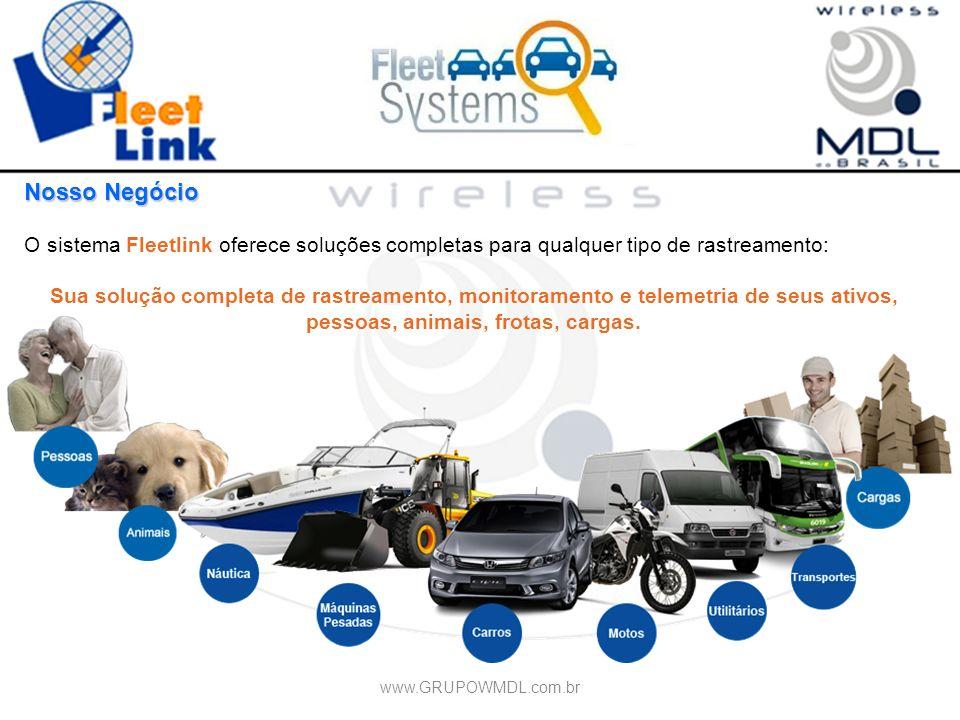 Nosso Negócio O sistema Fleetlink oferece soluções completas para qualquer tipo de rastreamento: Sua solução completa de rastreamento, monitoramento e