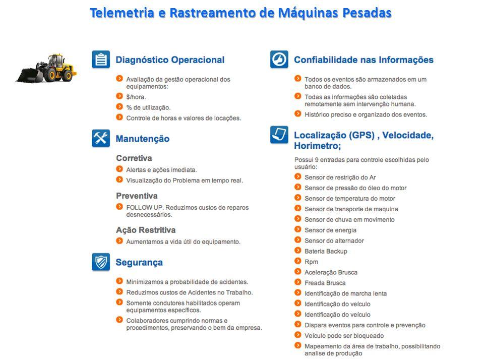 Telemetria e Rastreamento de Máquinas Pesadas www.GRUPOWMDL.com.br