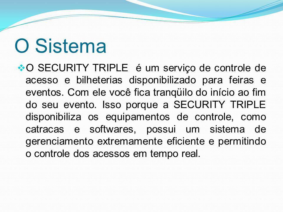 O Sistema O SECURITY TRIPLE é um serviço de controle de acesso e bilheterias disponibilizado para feiras e eventos. Com ele você fica tranqüilo do iní