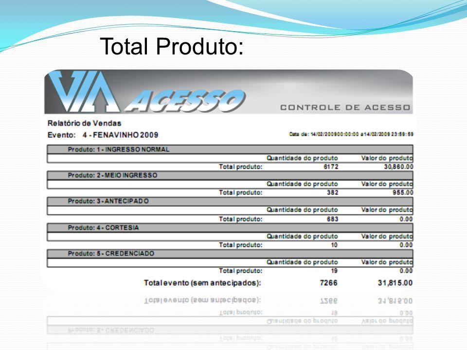 Total Produto: