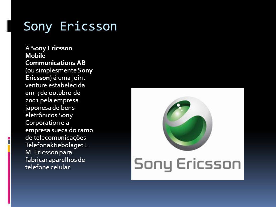 Sony Ericsson A Sony Ericsson Mobile Communications AB (ou simplesmente Sony Ericsson) é uma joint venture estabelecida em 3 de outubro de 2001 pela e