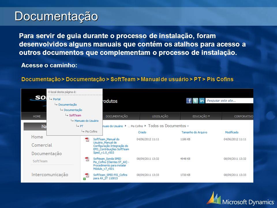 Documentação Para servir de guia durante o processo de instalação, foram desenvolvidos alguns manuais que contém os atalhos para acesso a outros docum