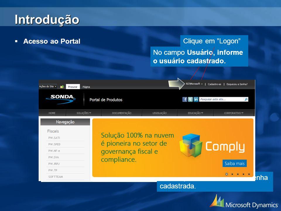 Criação de Database O produto PW.