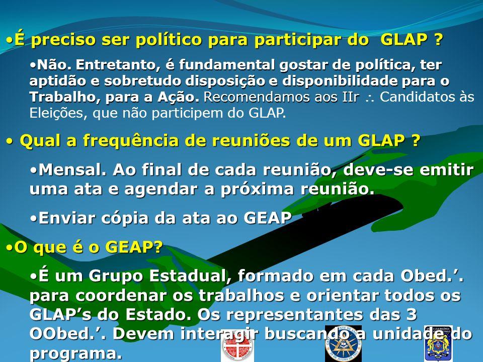 É preciso ser político para participar do GLAP ?É preciso ser político para participar do GLAP ? Não. Entretanto, é fundamental gostar de política, te