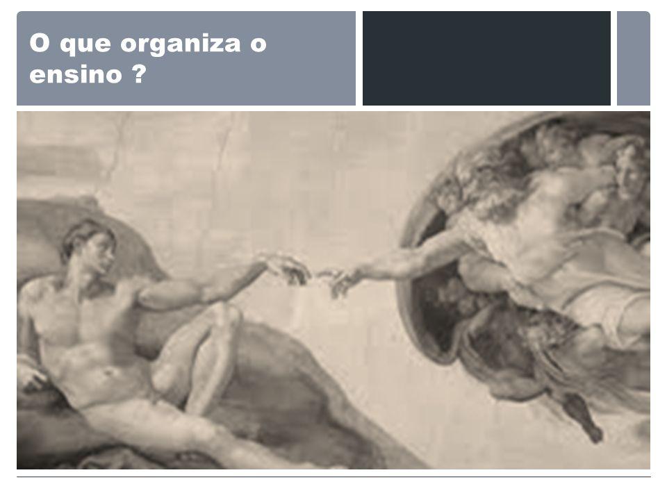 O que organiza o ensino ?
