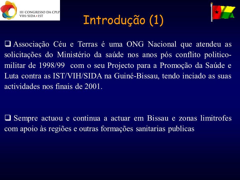 Introdução (1) Associação Céu e Terras é uma ONG Nacional que atendeu as solicitações do Ministério da saúde nos anos pós conflito politico- militar d