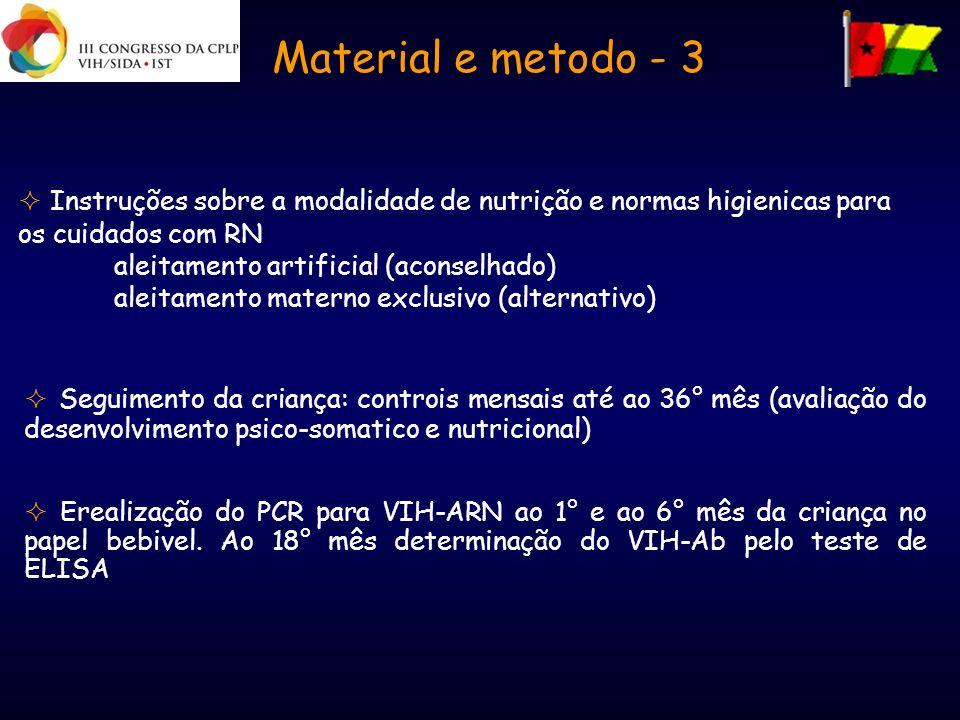 Instruções sobre a modalidade de nutrição e normas higienicas para os cuidados com RN aleitamento artificial (aconselhado) aleitamento materno exclusi