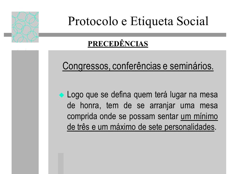 Congressos, conferências e seminários.