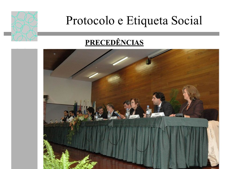 Protocolo e Etiqueta Social PRECEDÊNCIAS