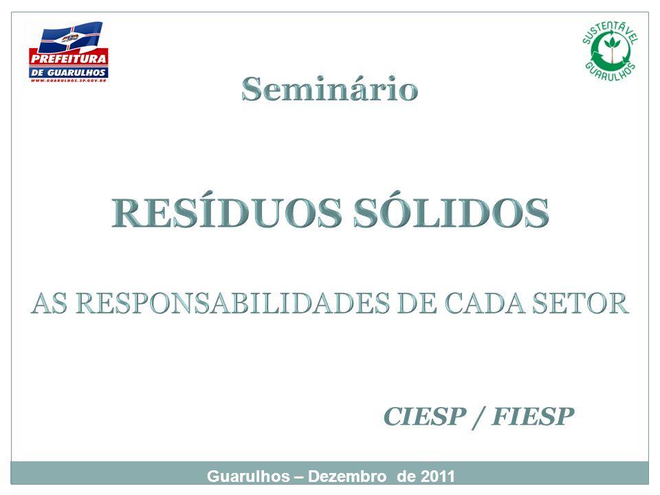 Guarulhos – Dezembro de 2011 CIESP / FIESP