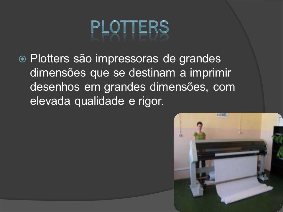 Plotters são impressoras de grandes dimensões que se destinam a imprimir desenhos em grandes dimensões, com elevada qualidade e rigor.