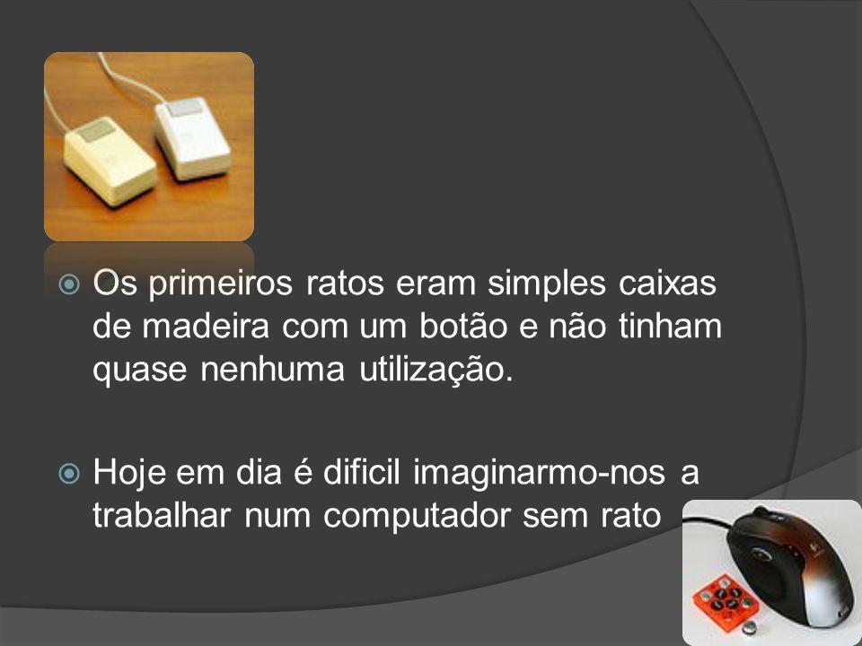 Os primeiros ratos eram simples caixas de madeira com um botão e não tinham quase nenhuma utilização. Hoje em dia é dificil imaginarmo-nos a trabalhar