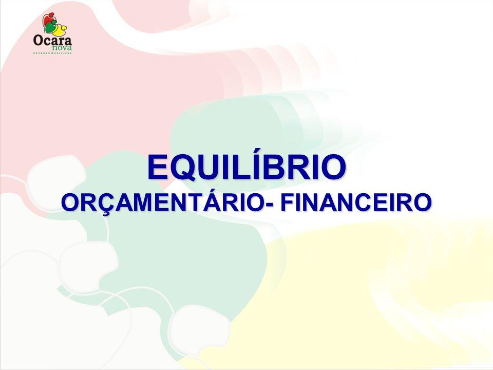 EQUILÍBRIO ORÇAMENTÁRIO- FINANCEIRO
