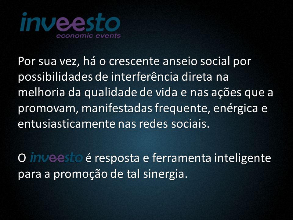 Por sua vez, há o crescente anseio social por possibilidades de interferência direta na melhoria da qualidade de vida e nas ações que a promovam, manifestadas frequente, enérgica e entusiasticamente nas redes sociais.