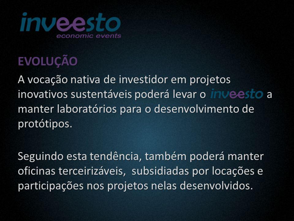 EVOLUÇÃO A vocação nativa de investidor em projetos inovativos sustentáveis poderá levar o a manter laboratórios para o desenvolvimento de protótipos.