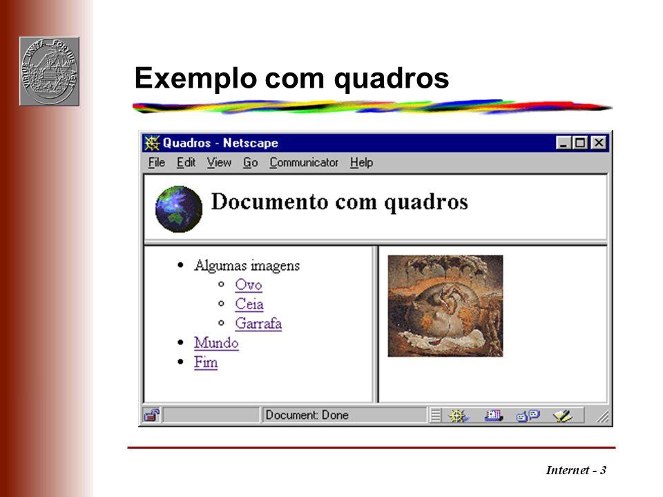 Internet - 3 Exemplo com quadros