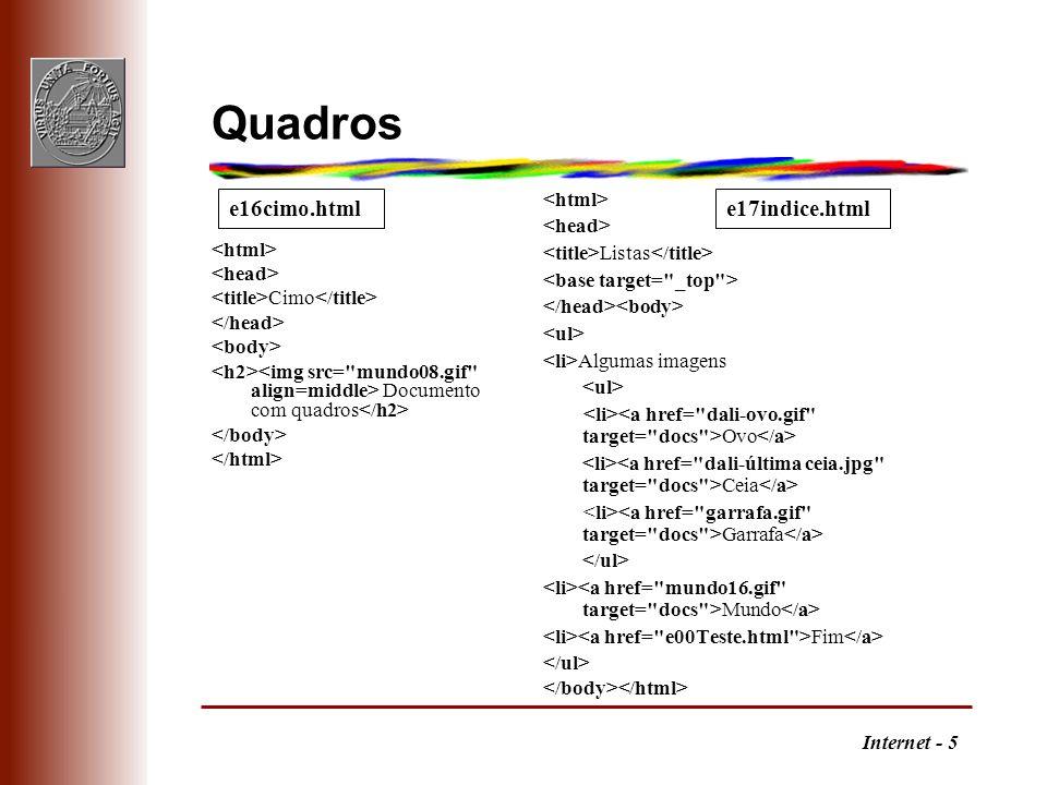Internet - 5 Quadros Cimo Documento com quadros Listas Algumas imagens Ovo Ceia Garrafa Mundo Fim e16cimo.htmle17indice.html