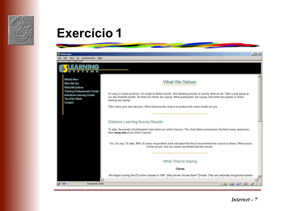 Internet - 7 Exercício 1