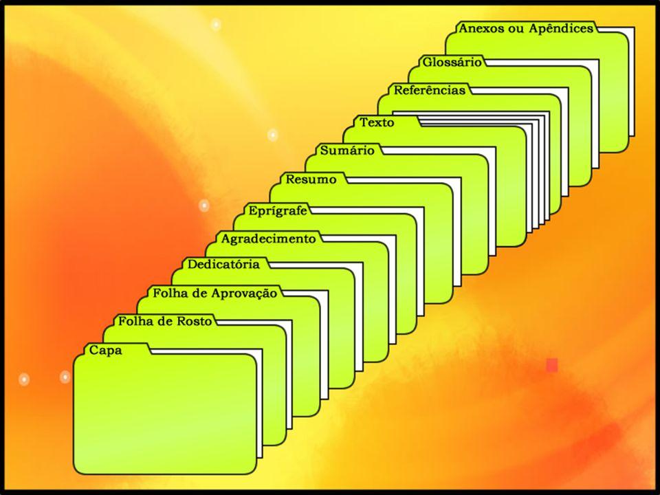 MARGENS: superior e esquerda, 3 cm; inferior e direita, 2 ou 2,5 cm.
