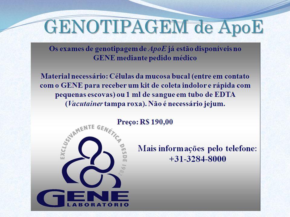GENOTIPAGEM de ApoE