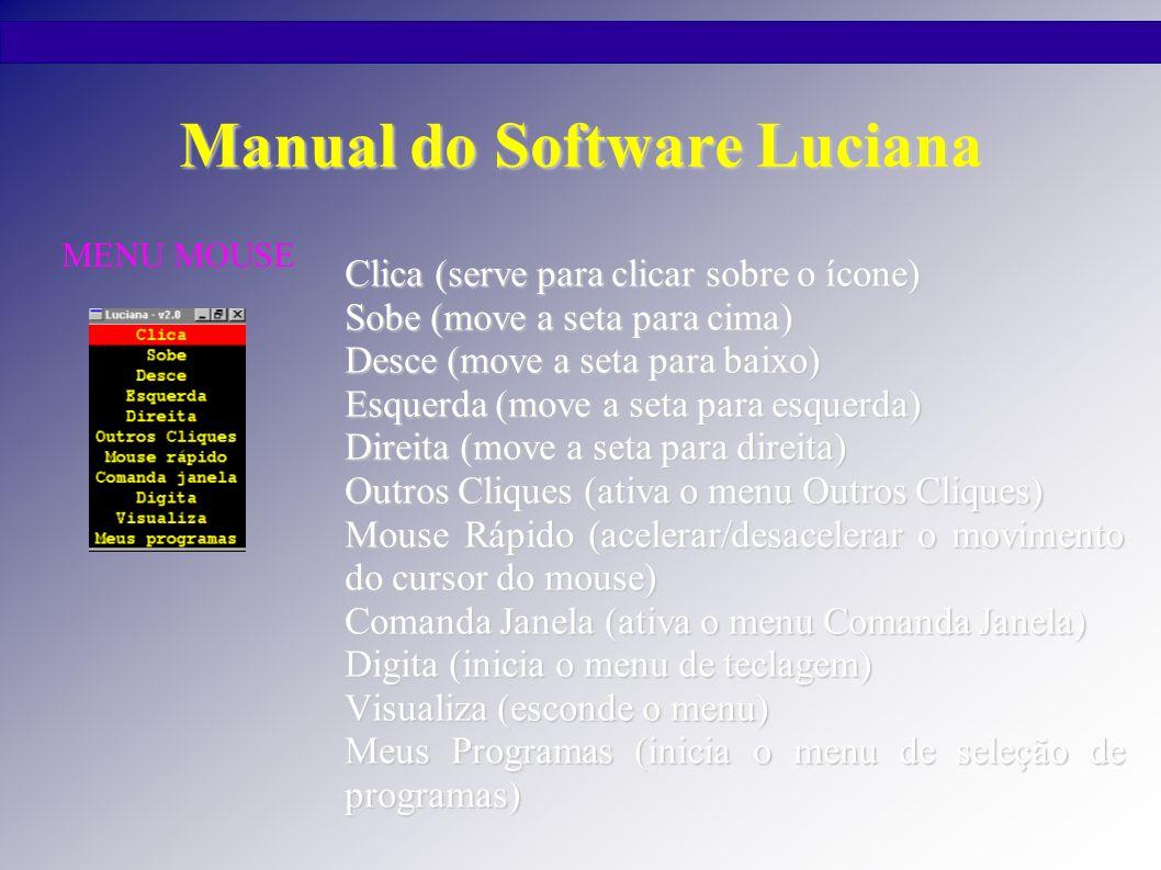Manual do Software Luciana Clique Duplo (inicia (ativa) uma função ou programa).