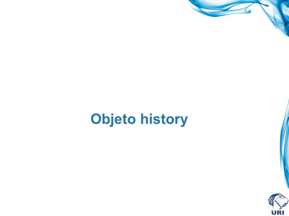 Objeto history