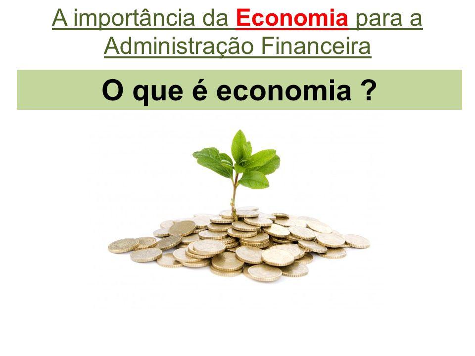 O que é economia ? A importância da Economia para a Administração Financeira